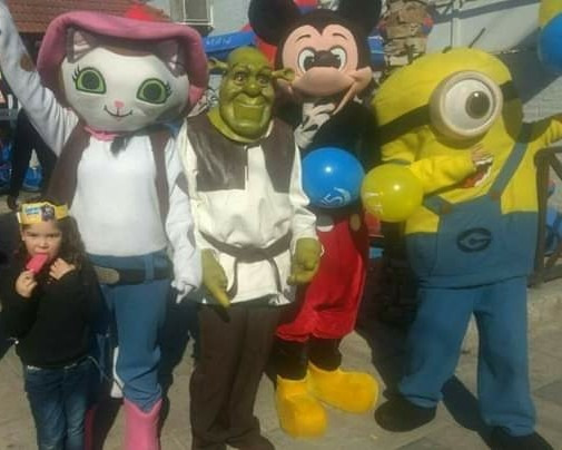 Disfraz Shrek Cabezón X Día - Caseros