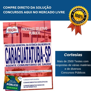 Apostila Agente Comunitário De Saúde Caraguatatuba Sp 2019