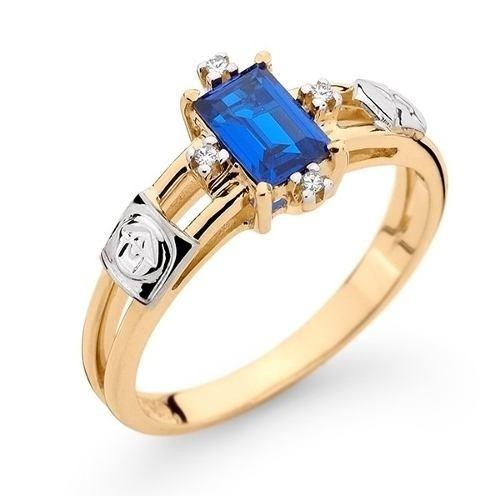 Anel De Formatura Ouro 18k Pedra /diamantes Natural (2,5 Gra
