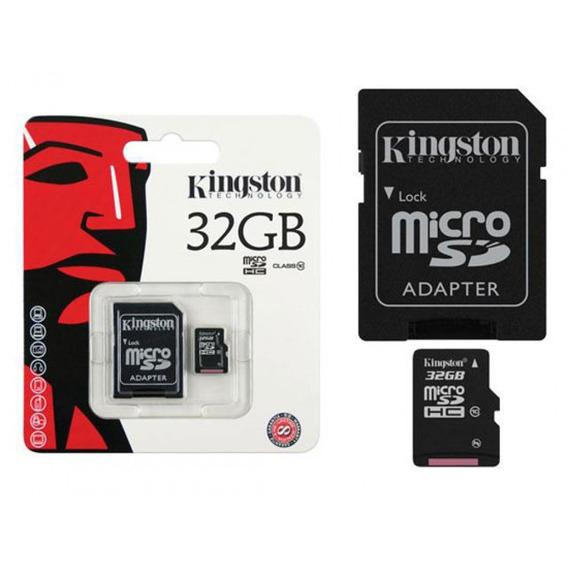 Cartão De Memória Micro Sd 32gb Kingston C/ Adaptador