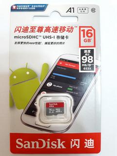 Cartão De Memória Sandisk 16gb Micro Ultra 98mbs Original
