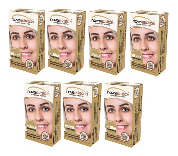 7 Kit Henna P/sobrancelhas Nova Estética Frete Gratis+brinde