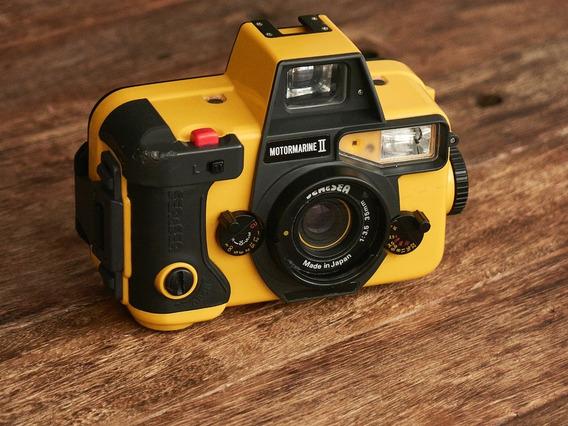 Câmera E Flash Subaquático Sea & Sea, Na Caixa Original!!!