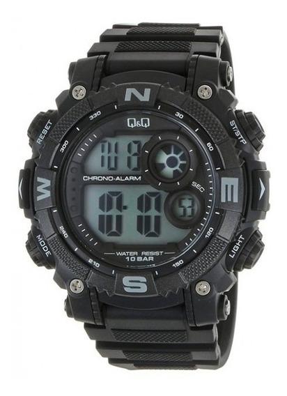 Reloj Tactico Q&q Camping Negro Modelo M133j001y Uso Rudo