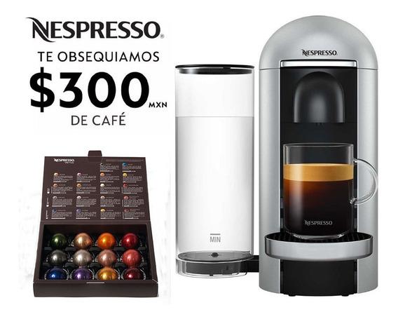 Cafetera Nespresso Vertuo Plus Plata Eco Friendly