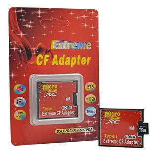 Adaptador Convertidor Micro Sd Tf A Tarjeta Compact Flash Cf