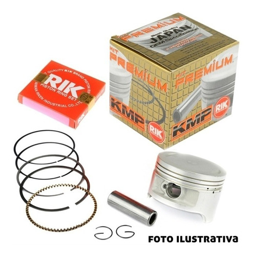Imagem 1 de 3 de Kit Pistao E Aneis Rik Honda Cb 300r Xre 300 1mm