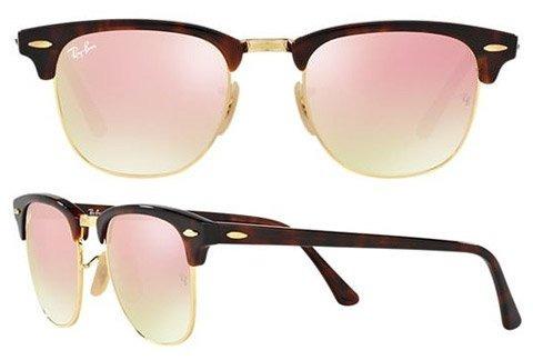 Óculos Ray-ban Clubmaster Tartaruga Rosa Espelhado Original