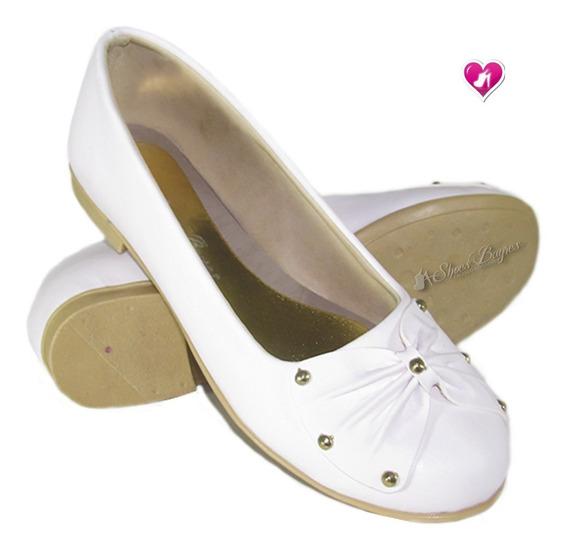 Chatita Ballerina Con Moño Modelo Comunion De Shoes Bayres