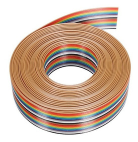 Cabo Flat Cable 4 Vias 26awg Colorido - Lance 20mts