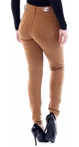 Calça Jeans Sawary Tamanho 36 Com Lycra Caramelo - 248544