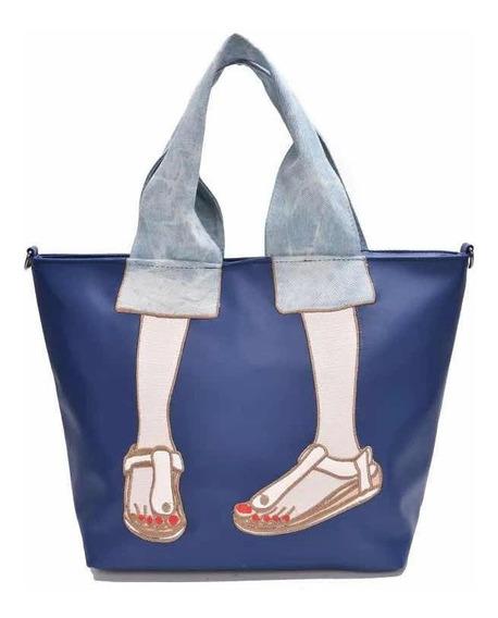 Cartera Bolso Impermeable Con Mango Jeans Importado
