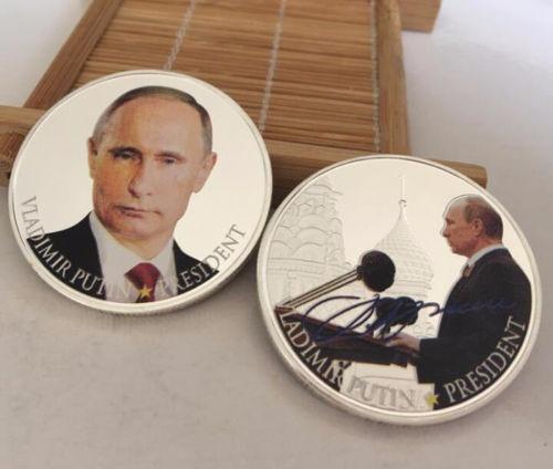 Moeda Comemorativa Presidente Da Rússia Vladimir Putin