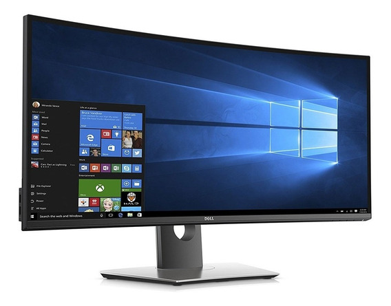 Monitor Dell Led Curvo 34 Wqhd Ultrasharp Ips Garantia 1 Ano