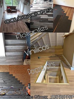 Colocación De Pisos Flotantes, Vinilicos, Zocalos Y Ceramica