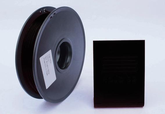 Filamento Pla 3d Premium Preto R3dbrasil 1,75mm 500gr