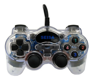 Joystick Pc Gamepad Analogico Usb Dualshock Vibración Envíos Garantía