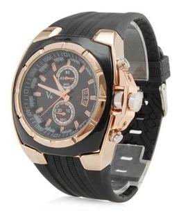 Nuevo Reloj De Cuarzo Para Hombre Negro Y Dorado V6 Reloj De