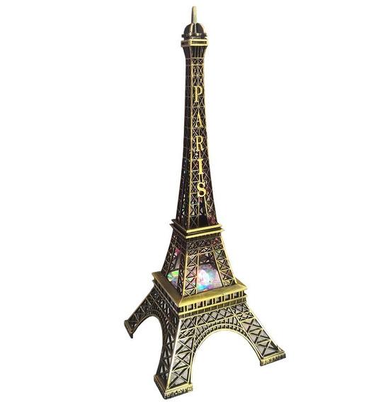 Torre Eiffel Con Luz Led Variado O Fijo Excelente Decoracion