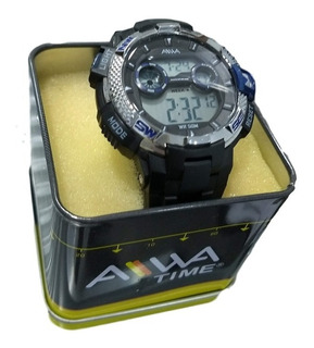 Reloj Hombre Aiwa Deportivo Sumergible 50mt Cronometro Luz