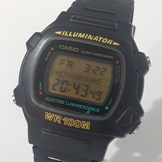 Relogio Casio Hd 200m Original 1219 Antigo Do Vovo Alarme Ok