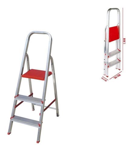 Escada Alumínio Doméstica 3 Degraus Esc0062 Botafogo