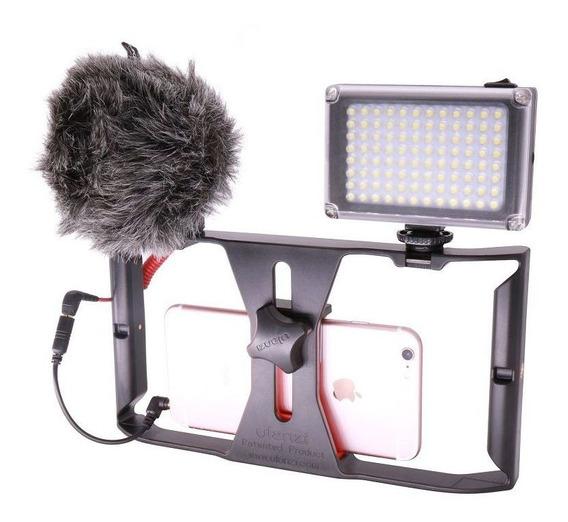 Kit Stedicam Celular + Led 96 + Microfone - Frete Grátis