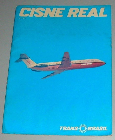 Revista De Bordo Transbrasil Cisne Real 1973 Com Danificados