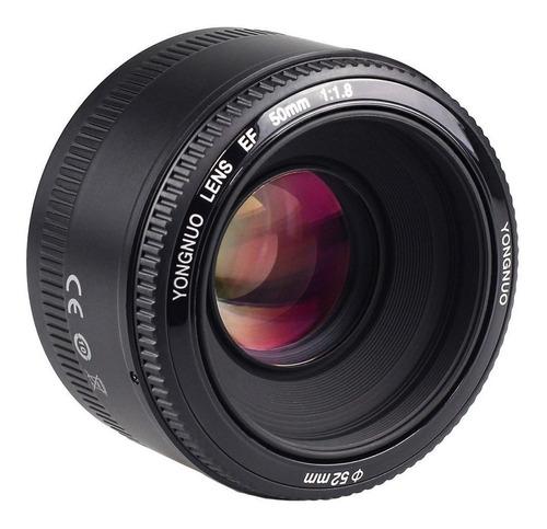 Lente Yongnuo 50mm Nova + Garantia Para Canon Dslr