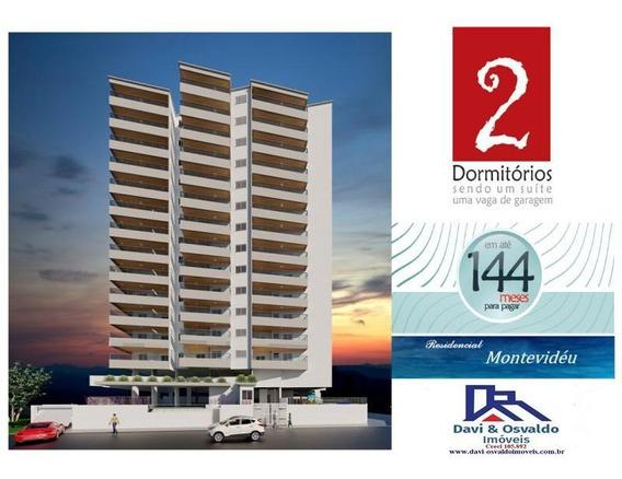 Apartamento 2 Dormitórios Para Venda Em Praia Grande, Guilhermina, 2 Dormitórios, 1 Suíte, 1 Banheiro, 1 Vaga - Ap00098