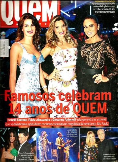 Revista Quem 736/14 - Marquezine/anitta/flavia/giovanna/zezé