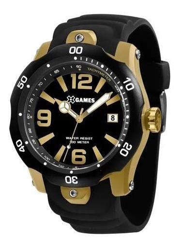 Relógio X-games Xmpp1047 P2px Masculino Preto/dourado