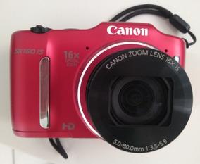 Câmera Power Shot Sx 160 Is Zoom 16 Semi Nova