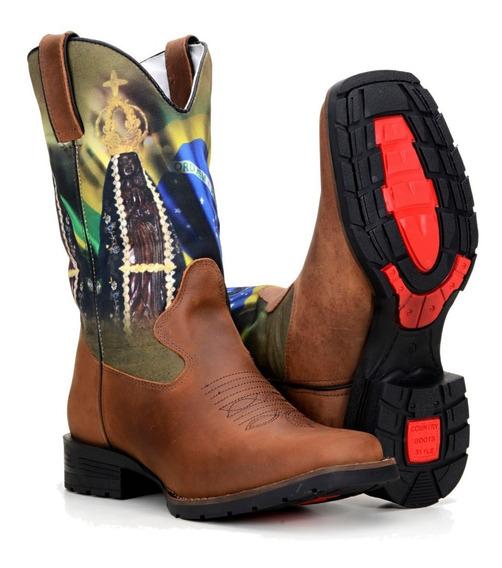 Bota Country Masculina Texana Rodeio Horse Cavalo Sertenejo