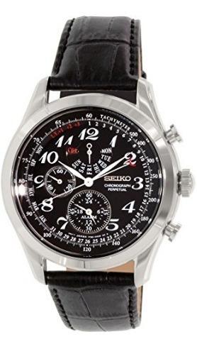 Relógio Masculino Seiko Neoclassic Preto/couro Alarme Perpet