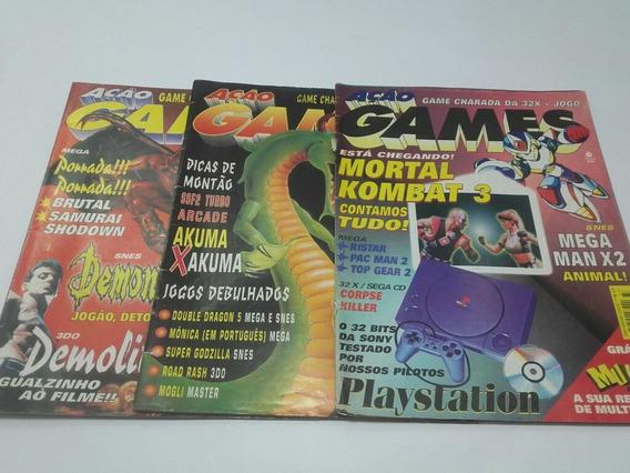 6 Revistas Ação Games Antigas Anos 90 Vários Jogos Edit.azul