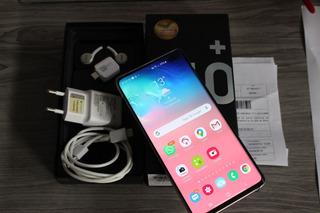 Samsung Galaxy S10+ 128 Gb Branco Nf Garantia Ate Setembro