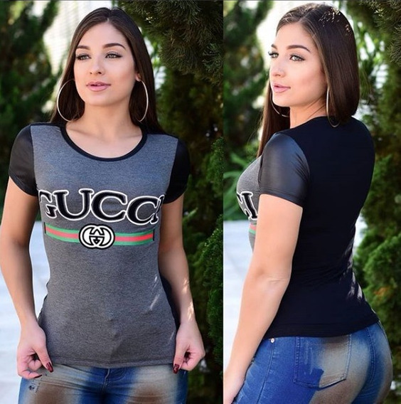Camiseta Tshirt Feminina Justa Color Cores E Estampas Blusa