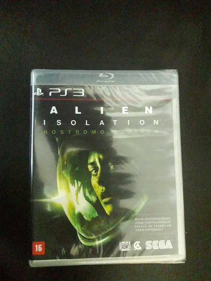 Alien Isolation Nostromo Edition Ps3 Novo Lacrado