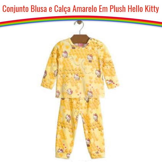 Conjunto Bebê Menina Blusa Manga Longa E Calça Hello Kitty