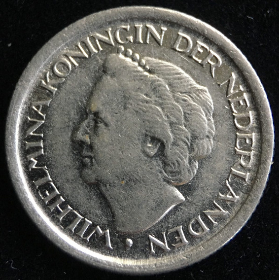 Paises Bajos, 25 Cents, 1948. Casi Sin Circular
