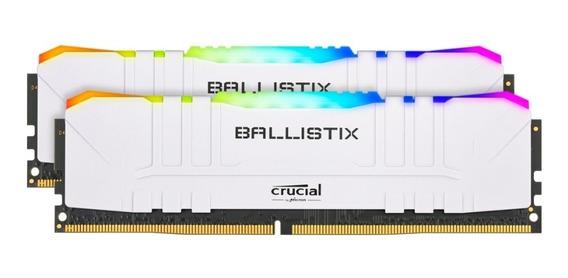 Memoria Crucial Ballistix 16gb 2x8 Blanca Rgb Ddr4 3600mz