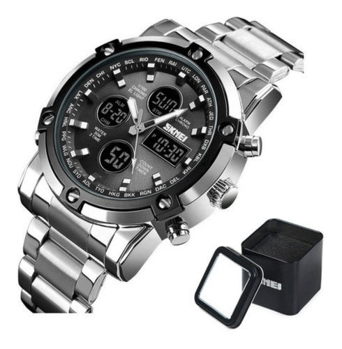 Imagen 1 de 10 de Reloj Skmei 1389 Metal Acero Inoxidable Contra Agua 50m