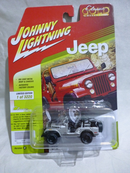 Johnny Lightning Jeep Cj-5 Gris - J P Cars