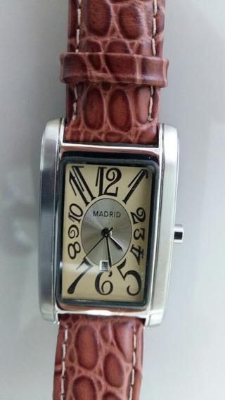 Relógio Madri Lindo Zero Calendário Caixa Aço Amplie Fotos.