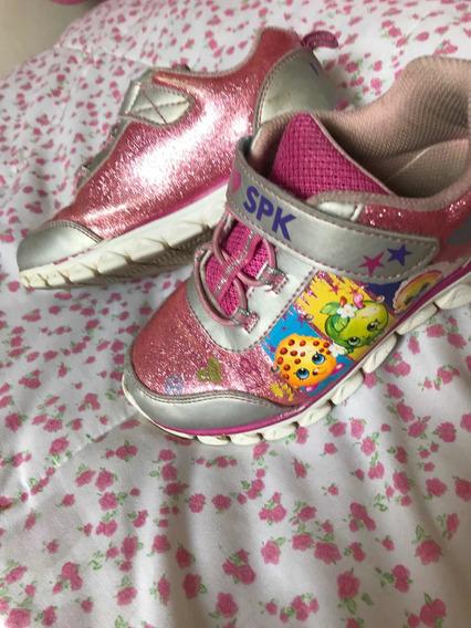 Zapatillas Con Luces Rosas Talle 32 ( 13 1/2 Usa)como Nuevas