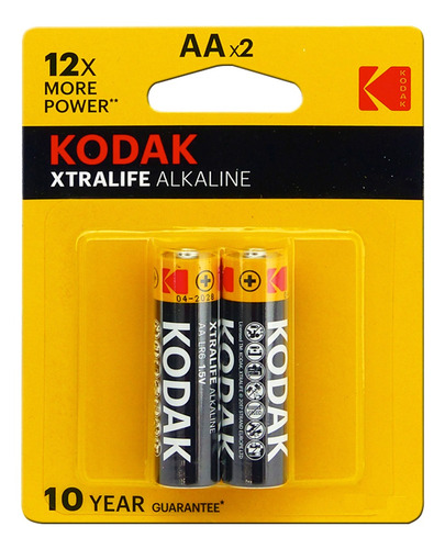 Bateria Kodak 1.5 V Xtralife Alkalina Modelo Lr6 X2 Bagc