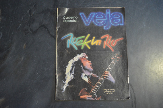 Veja Caderno Especial Rock In Rio 1985 Revista