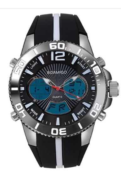 Relógio Masculino Esportivo Digital E Analógico Boamigo