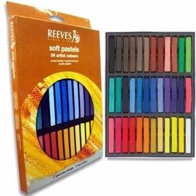 Giz Pastel Seco Reeves 36 Cores Artes Desenho Pintura